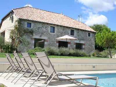 Photo for Luxury Villa, Modern French. Peaceful, total comfort, huge heated private pool