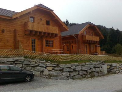 Photo for Holiday house, hut, wooden chalet with sauna, 3 bedrooms, fireplace, stunning views