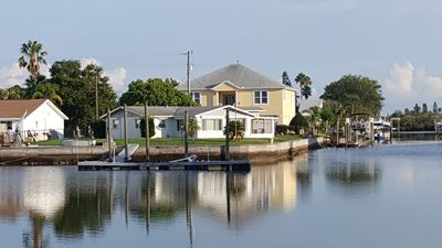 Photo for 3BR Waterfront with big yard and dock. Pet friendly. Free WiFi, Grill, Cable TV