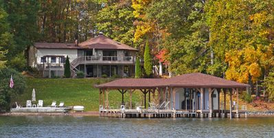 Photo for Great For Families, Lakefront 3 Bdrm Home,  Boathouse, Hot Tub, Fire Pit, WiFi