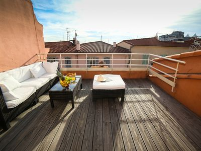 Photo for Newly renovated loft in Cannes center with cosy rooftop terrace
