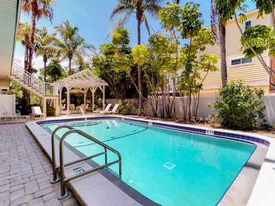 Photo for NEW LISTING! Family-friendly condo two blocks from the beach w/ community pool