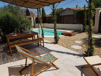 Photo for novelty 2018, superb villa with pool at the foot of the Alpilles