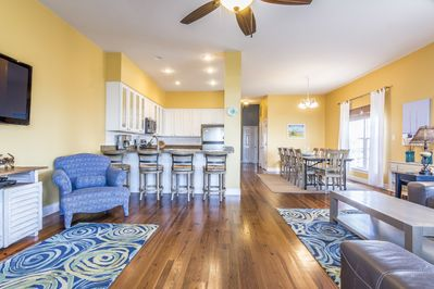 open living/dining/kitchen area - great for entertaining