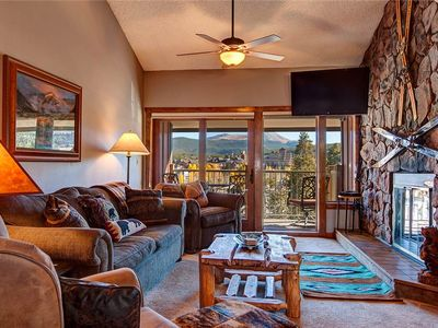 Photo for Ski-in Breckenridge Condo with On-Site Hot Tubs, 1 Block to Downtown, Stunning Views - Sleeps 10!