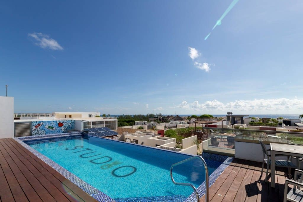 Apartment 356 m from the center of Playa del Carmen with Internet, Pool, Air conditioning, Parking (689402)