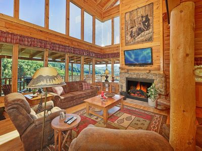 Photo for Spacious cabin w/great views perfect for family vacation