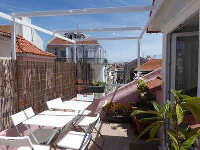 "Photo for Roof terrace with river view, townhouse in central old ""bairro"""