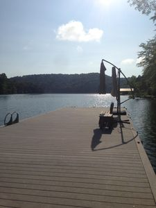 Photo for Lakefront 5 BR Vacation Home w/Large Private Dock-  Only 12 Steps  to the lake!