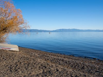 Photo for Steps to Lake Tahoe: Lakeside Condo, close to Tahoe City and skiing