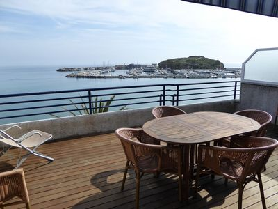 Photo for Nice top-floor apartment with large sunny terrace and panoramic views. Situated on the 1st