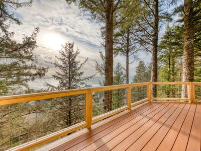 Photo for Dog-friendly house near the beach with ocean views, wood stove, & telescope!
