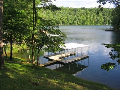 Cove Inlet and Covered Dock - NO BOAT TRAFFIC for worry-free swimming!