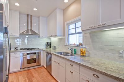 Modern kitchen with upscale appliances
