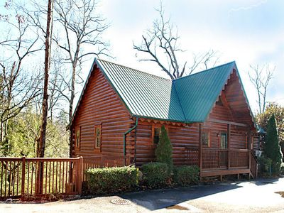 Photo for Get above it all in this 4 BR/4 Bath true log chalet with granite cuntertops/Stainless Appliances.