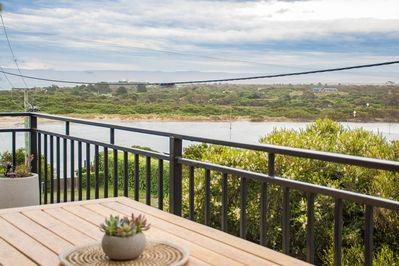 Enjoy outdoor dining with a captivating view