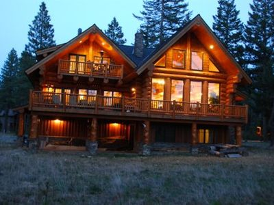 Photo for Massive Suncadia Log Lodge - 4 Bdr Overlooking 5th Green Prospector Golf Course