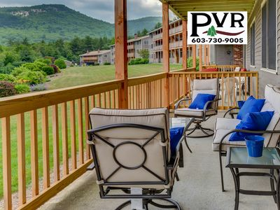 Photo for 2BR Condo 1 Min to N.Conway Village! Pool, Tennis, Grill, AC, WiFi!