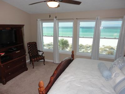 Master bedroom with gorgeous view