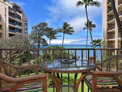 Photo for Ocean and Tropical Garden View from Lanai;  91 Steps to Ocean