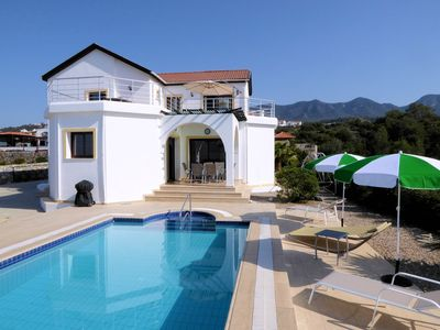 Photo for Lovely Villa With Private Pool, Superb Sea & Mountain Views, for families/adults