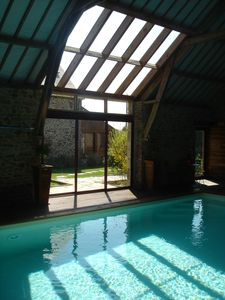 Photo for Beautiful house for 5 to 10 people, roofed pool, Saint-Malo area