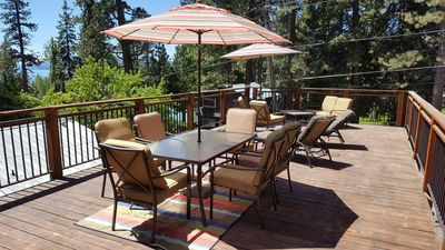 Photo for Perfect Location with ROOF DECK HOT TUB (5 Minute Walk To Tahoe City!)