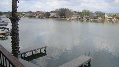 Photo for Lakefront Townhome with Boat Dock Near Resort Hotel
