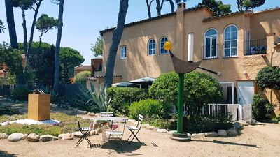 Photo for House with garden at 30 meters from the sand beach of la Fosca.