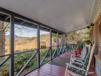 Photo for QUIET SECLUDED, 4 PRIVATE FALLS, TRAILS, RIVER 180 VIEW  2MI DILLARD MARKET