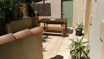 Photo for 80m2 air conditioning, swimming pool, private spa, terrace, barbecue