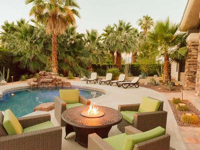 Photo for Desert Jewel! Cooling Patio Misters, Beautiful Mountain Views-Walk to El Paseo shopping and dining!