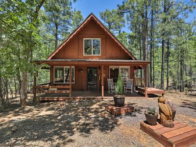 Photo for NEW! Cozy Show Low Cabin w/Deck Near Lake & Skiing
