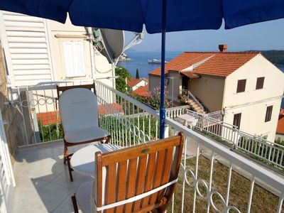 Photo for Three bedroom apartment with balcony and sea view Dubrovnik (A-9099-b)