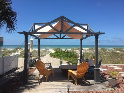 Relax under our gazebo and take in the beauty