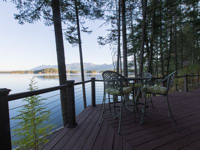Photo for Waterfront island getaway w/ kayaks & outdoor fire - only 40 miles from Glacier