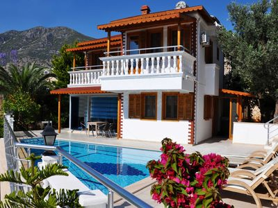 Photo for 50mtrs from sea with own private beach, luxury 2 bed villa, private pool also