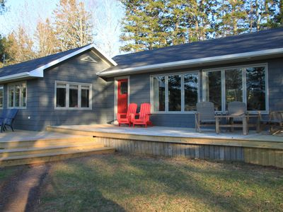 Photo for A 1300 Sq foot waterfront cottage newly renovated in 2018.