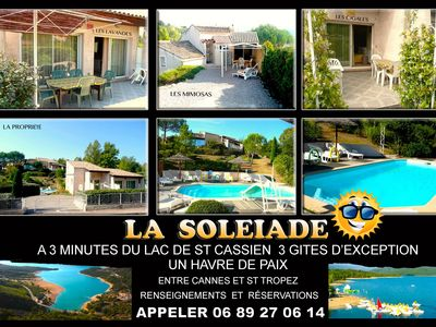 Photo for lake St Cassien (2gites 2-4pers) swimming pool, 15 minutes from Cannes, Frèjus, free wifi