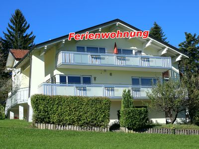 "Photo for Quiet apartment ""Alpenblick-Schneider"", balcony, Lake Constance and Allgäu near"