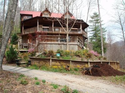 Photo for Artistic Log Cabin - Killer Views Only 16.3 Miles to Downtown!