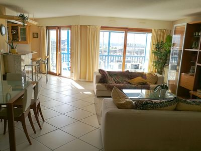 Photo for Spacious-sunny, family apart. 3mn to beach bordering Spain. Pool, terrace, gara