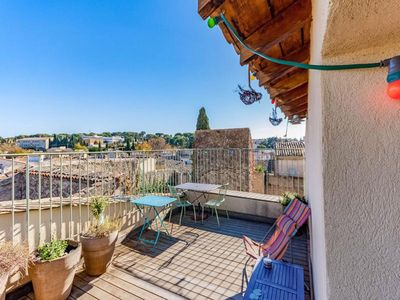 Photo for Large provencal village house of 140m2 with panoramic terrace