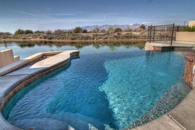 Infinity Pool overlooking the Colorado River