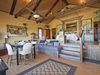 Photo for Unique Safari Style Bungalows with Pool, Fire-pit and Hill Country Views!