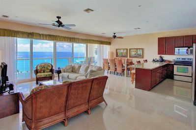 Stunning views from entry way. High ceilings only on top floor.
