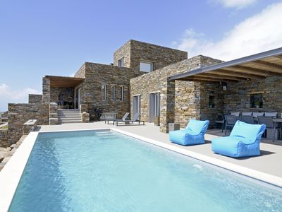 Photo for Unlimited views to the greatness of the Aegean Sea - Stunning Villa in Tinos