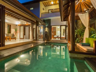 Photo for VILLA GREEN MANGO 2 BALI: ELEGANT SPACIOUS 2 BEDROOM VILLA  CLOSE TO 66 BEACH