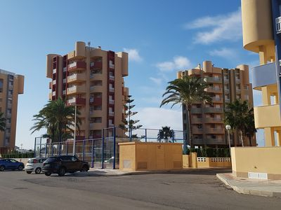 Photo for Ground floor house with large terrace of 40m in 1st line, La Manga Mar Menor.