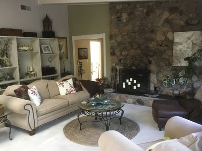 Wood burning fire place / living room